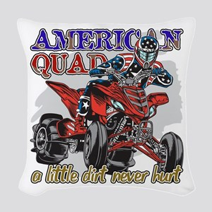 American Quad Woven Throw Pillow