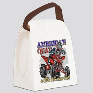 American Quad Canvas Lunch Bag