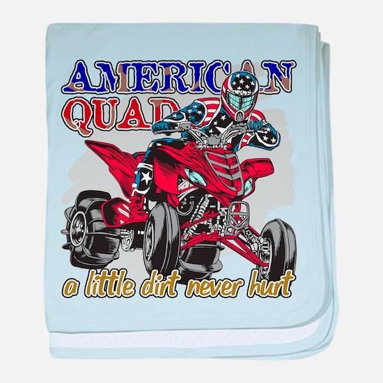 American Quad baby blanket
