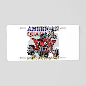 American Quad Aluminum License Plate