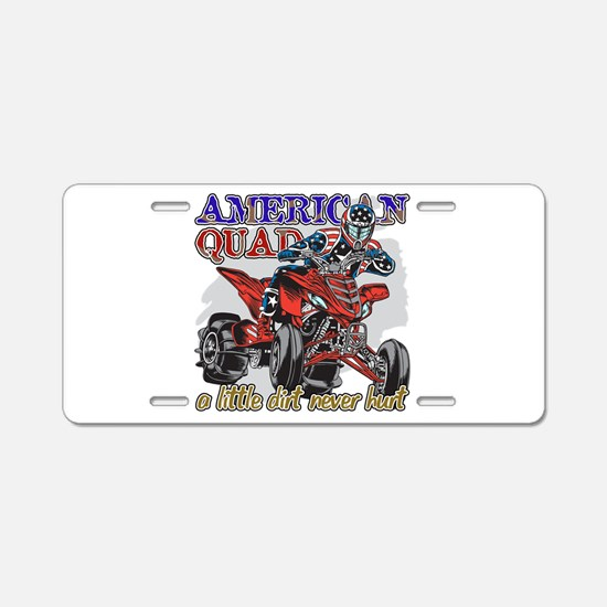 American Quad Aluminum License Plate