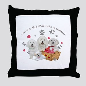 No Love Like A Maltese Throw Pillow
