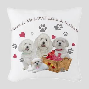 No Love Like A Maltese Woven Throw Pillow