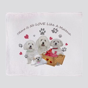 No Love Like A Maltese Throw Blanket
