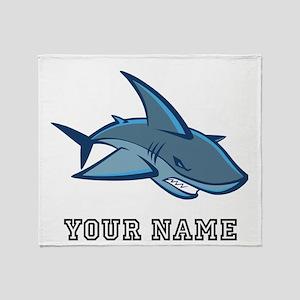 Bull Shark (Custom) Throw Blanket