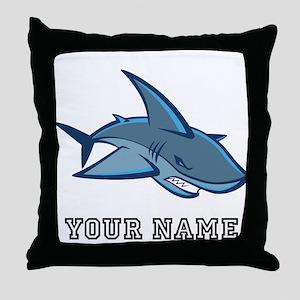 Bull Shark (Custom) Throw Pillow