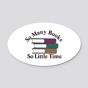 So Many Books Oval Car Magnet