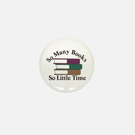 So Many Books Mini Button
