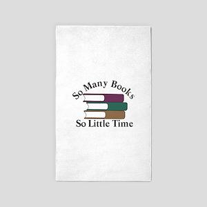So Many Books Area Rug