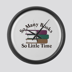So Many Books Large Wall Clock