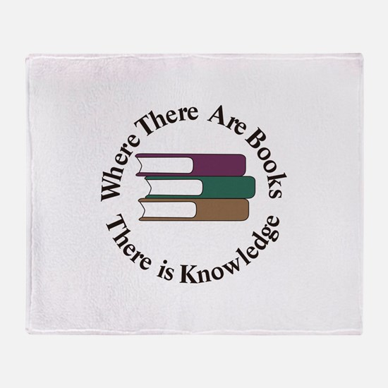 Where There are Books Throw Blanket