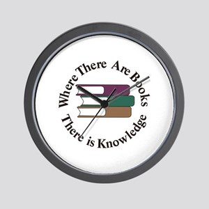 Where There are Books Wall Clock