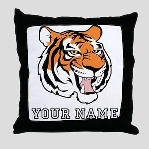 Tiger Head (Custom) Throw Pillow