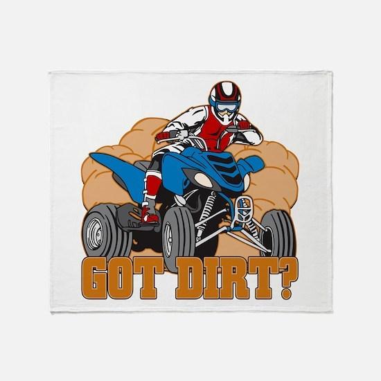 Got Dirt ATV Throw Blanket