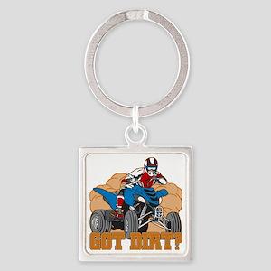Got Dirt ATV Square Keychain