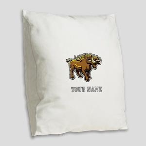 Wild Boar (Custom) Burlap Throw Pillow