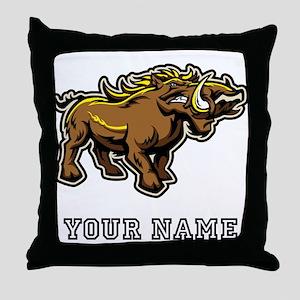 Wild Boar (Custom) Throw Pillow