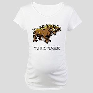 Wild Boar (Custom) Maternity T-Shirt