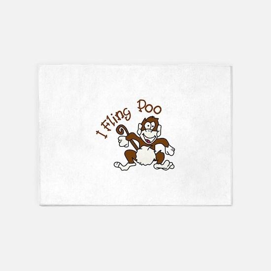 I Fling Poo 5'x7'Area Rug