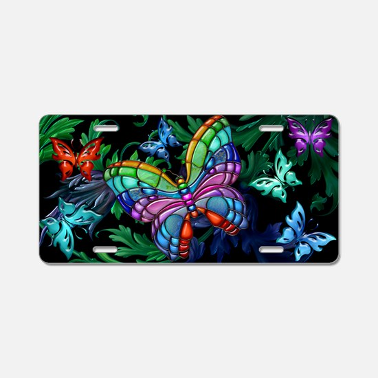 Harvest Moons Rainbow Butterflies Aluminum License