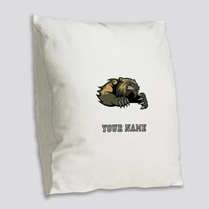 Wolverine (Custom) Burlap Throw Pillow