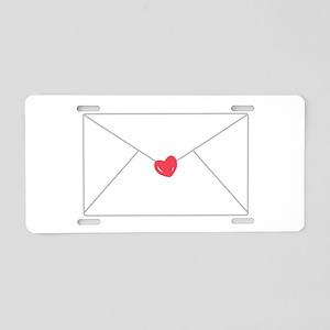 Love Letter Aluminum License Plate