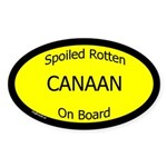 Spoiled Canaan On Board Oval Sticker
