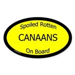 Spoiled Canaans On Board Oval Sticker