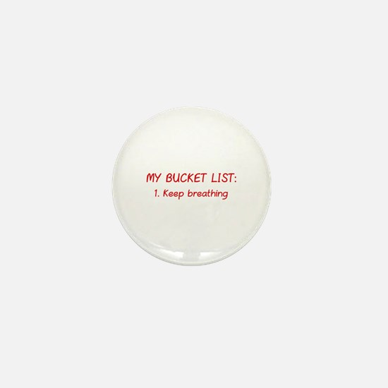 My Bucket List Mini Button