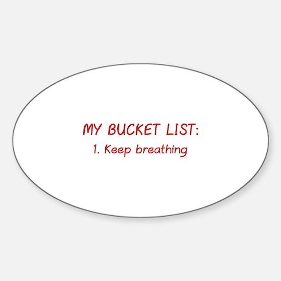 My Bucket List Sticker (Oval)