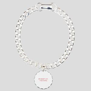 My Bucket List Charm Bracelet, One Charm