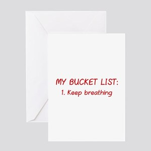 My Bucket List Greeting Card