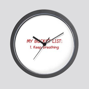 My Bucket List Wall Clock