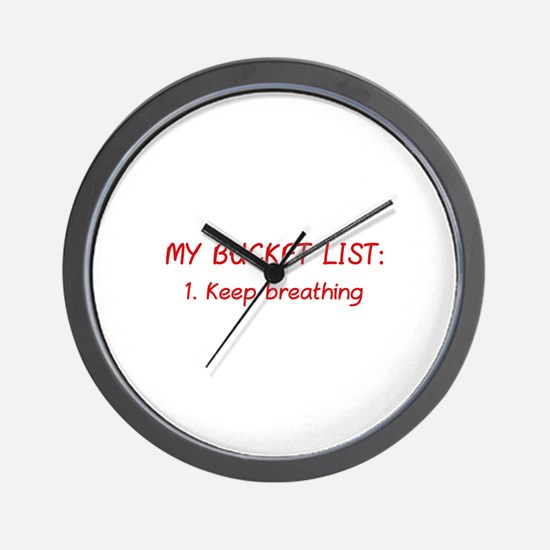 My Bucket List Wall Clock
