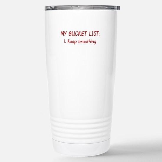 My Bucket List Ceramic Travel Mug