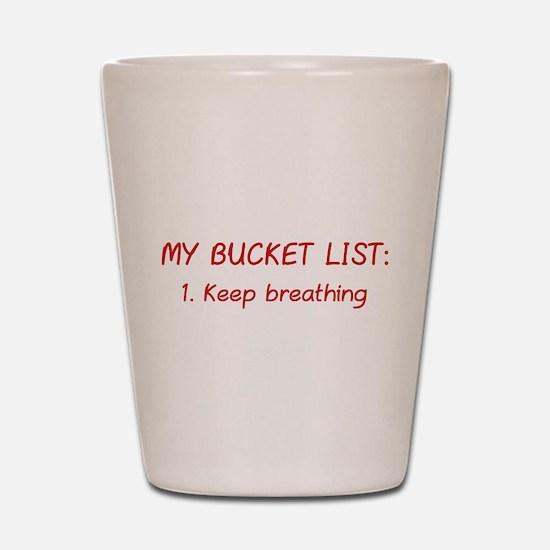 My Bucket List Shot Glass