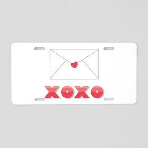 XOXO Aluminum License Plate