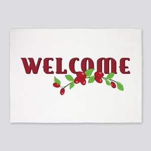 Welcome 5'x7'Area Rug