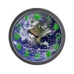 Earth and Green Tracks Wall Clock