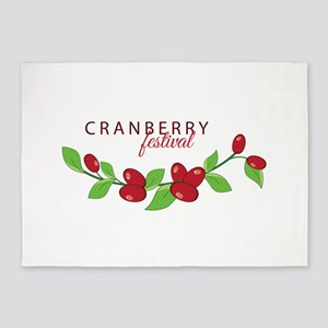 Cranberry Festival 5'x7'Area Rug