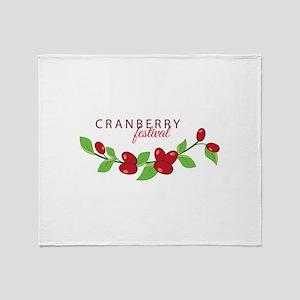 Cranberry Festival Throw Blanket