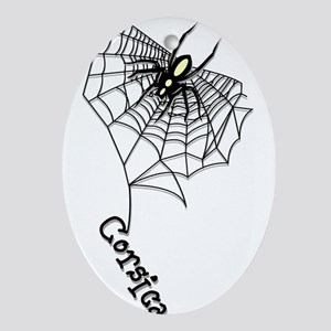 Spider Oval Ornament