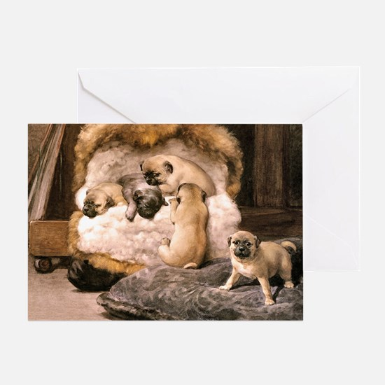 PUG PUPPIES Greeting Card