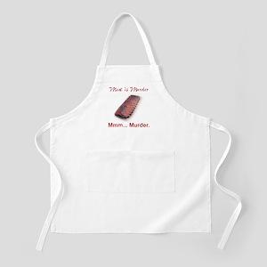 """White """"Mmm... Murder."""" BBQ Apron"""
