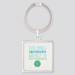 You and I Sustainability Square Keychain