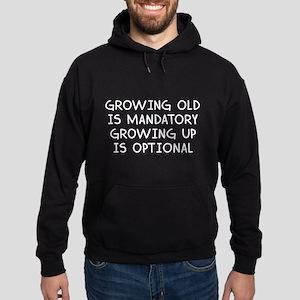 Growing Up Is Optional Hoodie (dark)