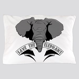 Save The Elephant Pillow Case
