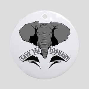 Save The Elephant Ornament (Round)