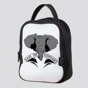 Save The Elephant Neoprene Lunch Bag