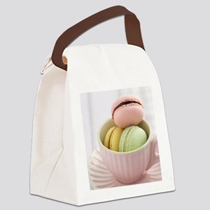 Macarons Canvas Lunch Bag